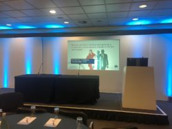Stage set up for security conference about shaping and growing the security industry's future