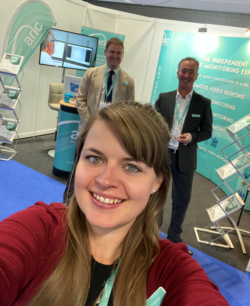 Arc employees on exhibition stand at 2019 show Six Security Event